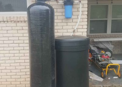 120 K Water Softener And Prefilter Installed On Equipment Pad