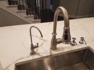 Brushed Nickel Faucet Installed 4