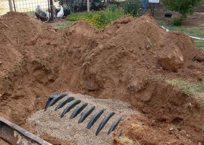 Drain Field Install For Water Filtration