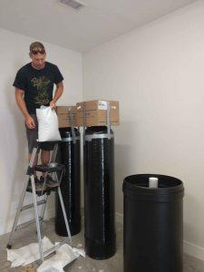 Filling Water Softener Resin