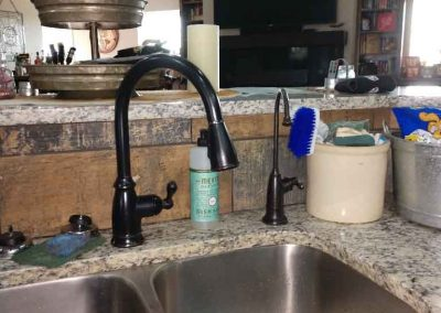 Oil Rubbed Bronze Faucet Installed