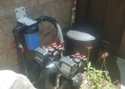 Outdoor Installiation Of Whole House Water Filtration