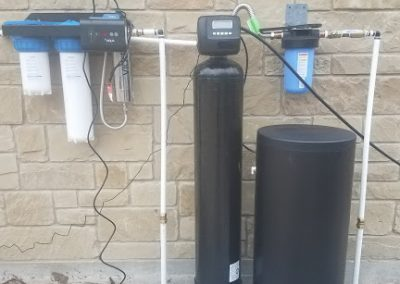 Prefilter, 48 K Water Softener, UV Light Disinfection System Installed