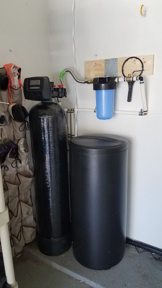 Prefilter, 64 K Water Softener Installed 4