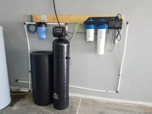 Prefilter, 64 K Water Softener, UV Light System
