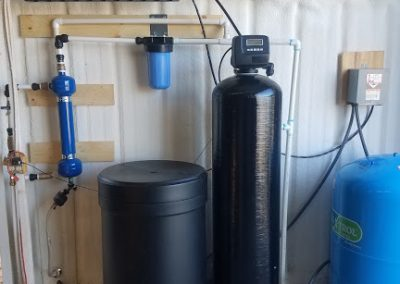 Sand Seperator, Prefilter, and 120 K Water Softener Installed