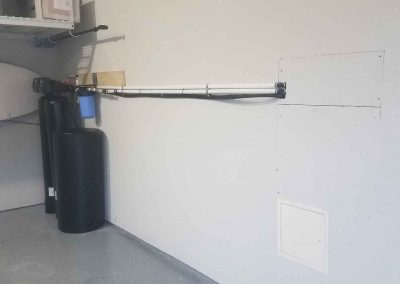 Wall Catch Install Of Whole House Water Filtration