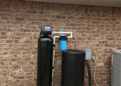 Water Softener Installed On Equipment Pad