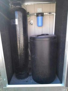 Water Softener in Outdoor Insulated Cover